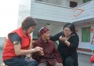 墊江論壇志愿者聯合愛心企業陪敬老院老人們過重陽節