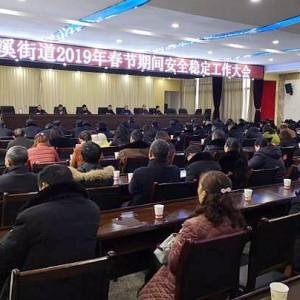 桂溪街道召开2019年春节期间安全稳定工作大会